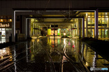 雨の日の富山駅
