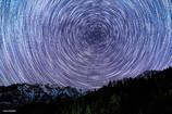 戸隠山と北極星